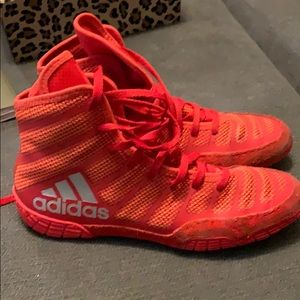 Adidas wrestling shoes size 6 boys